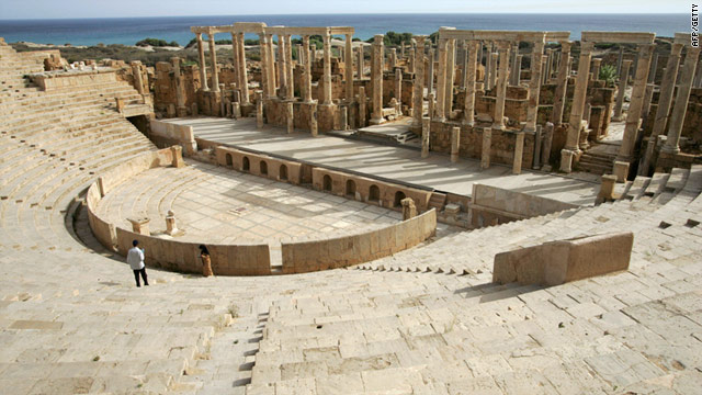 NATO can not verify rebel claims that Gadhafi may be hiding rockets at the UNESCO World Heritage site of Leptis Magna.