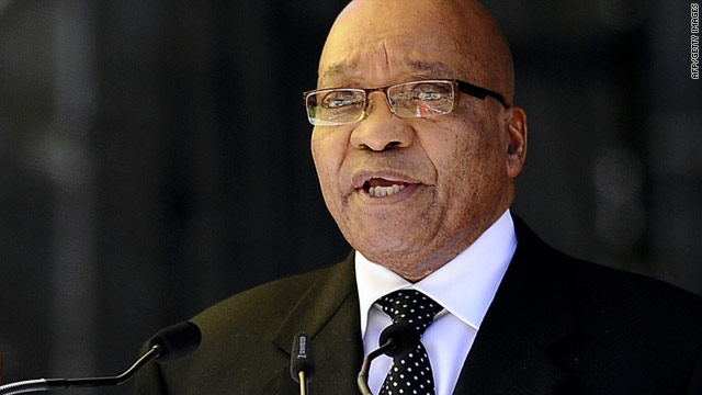 South Africa President Jacob Zuma believes there are ulterior motives for NATO's enforcemen