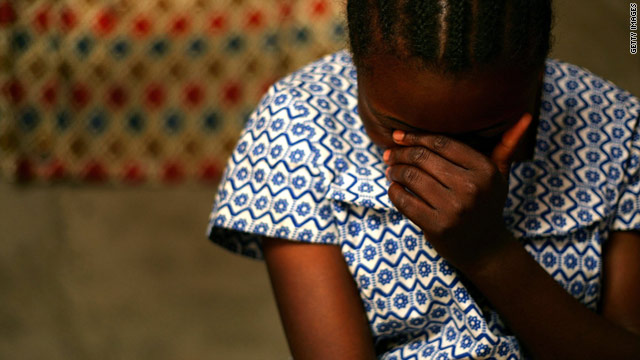 A Congolese woman tells a health worker how she was raped by three members of the military.