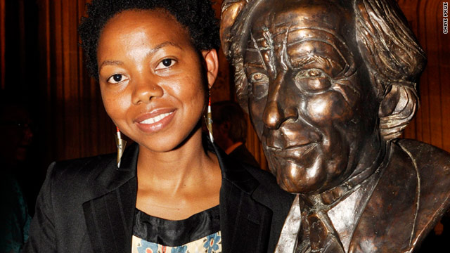 NoViolet Bulawayo, winner of the Caine Prize for African Writing.
