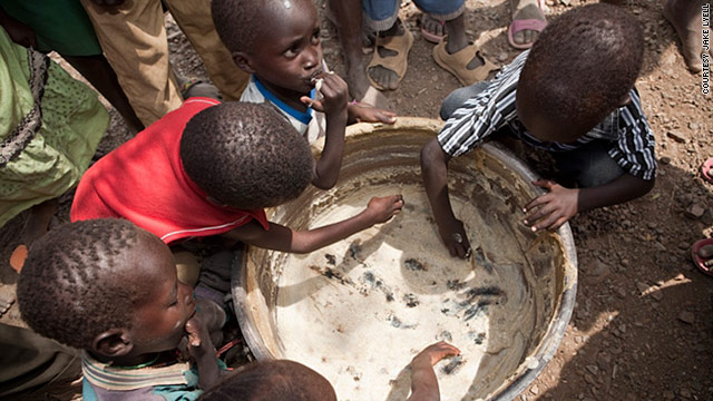 Children in Kenya's drought-stricken region of Turkana are provided with food as part of ChildFund's school feeding program.