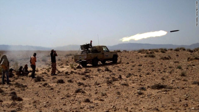 Libyan rebel forces gained ground at Bir al-Ghanam on Saturday, but government forces claimed to have won it back.