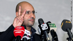 Saif al-Islam Gadhafi, one of the longtime Libyan's leader sons, has been acting as the de facto prime minister.