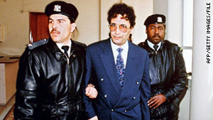 In 2009, Scotland freed Abdel Basset al-Megrahi, shown in 1992, because doctors gave him three months to live.