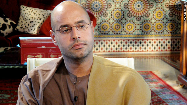 Moammar Gadhafi's son Saif al-Islam was reportedly captured by rebels, a claim that later proved false.