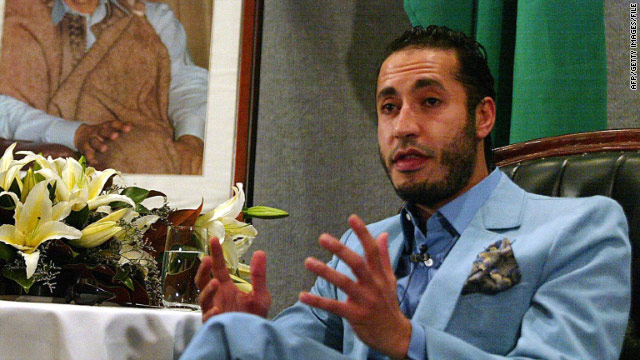 Saadi Gadhafi, son of Libya's embattled leader, said he had the authority to negotiate and wanted to discuss a cease-fire.