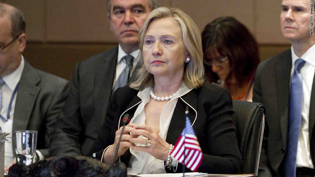 U.S. Secretary of State Hillary Clinton departed late Wednesday for the high-level meeting.