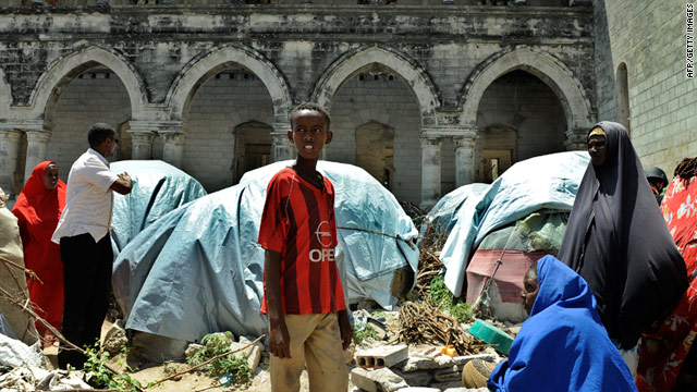 Somali refugees in the capital of Mogadishu. Somali leaders have agreed to hold elections in the war-ravaged nation.