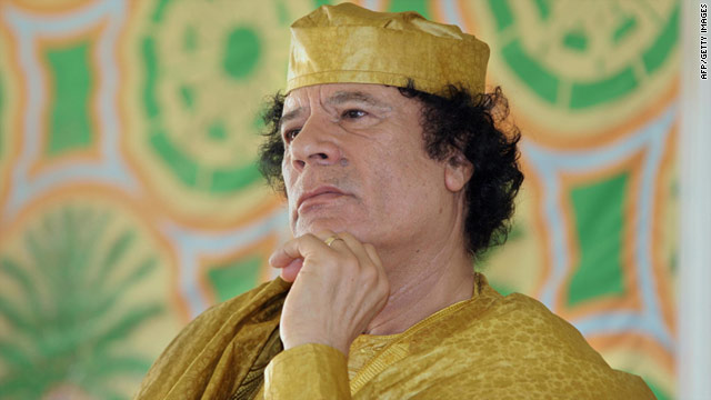 A picture of Moammar Gadhafi taken in 2005. The ICC has asked Interpol to issue Red Notice arrest warrants for Gadhafi.
