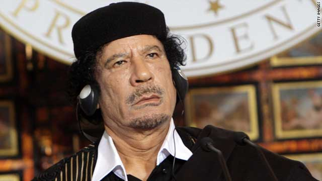 A picture of Moammar Gadhafi taken in 2009. Interpol has issued Red Notice warrants for the fallen Libyan leader.