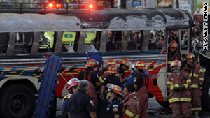 The death toll from a Monday bus bombing in Guatemala City has risen to six, according to CNN affiliate Noti 7.