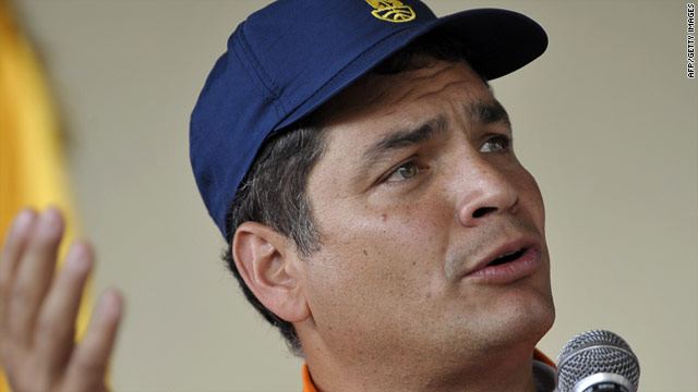 "Ecuador's President Rafael Correa said he recognized ""The Palestine State as free and independent within its borders."""