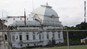 The presidential palace, once a symbol of freedom, has barely been touched since the earthquake.