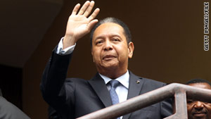 Jean-Claude Duvalier was questioned in a Haitian court on Tuesday.