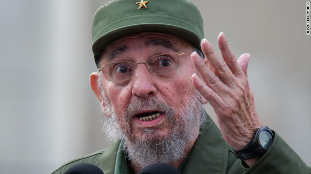 "Fidel Castro has given his support to the Egyptian protester in a newspaper column ""The Revolutionary Rebellion in Egypt."""