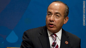 "President Felipe Calderon said the troop increases are needed to fight the drug gangs' ""criminality and their lack of scruples."""