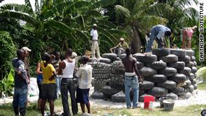 Earthship home in Haiti