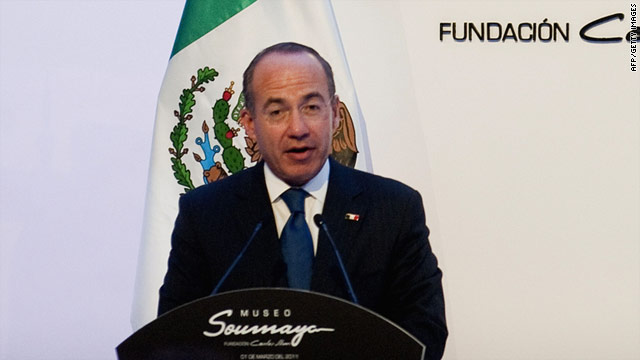Mexican President Felipe Calderon is scheduled to arrive Thursday in Washington for two days of meetings.