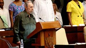 "Fidel Castro denounces an ""inevitable"" invasion of Libya in an essay Thursday."