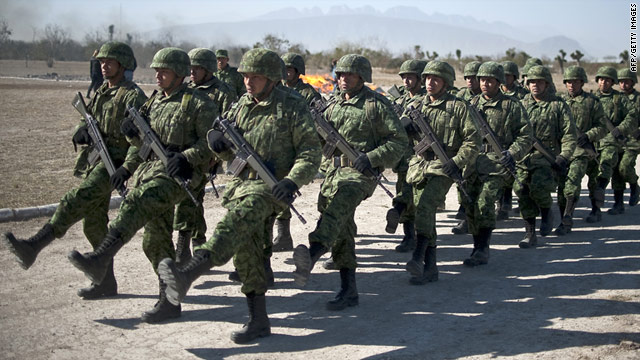 Mexican President Felipe Calderon has deployed about 50,000 troops to crackdown on drug cartels since December 2006.