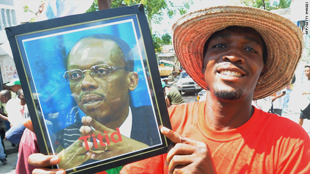 Supporter of former Haitian president Jean-Bertrand Aristide are eagerly awaiting his return to the country ahead of March elections.