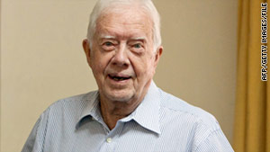 Jimmy Carter's trip raised speculation he could try to secure the release of an American contractor.