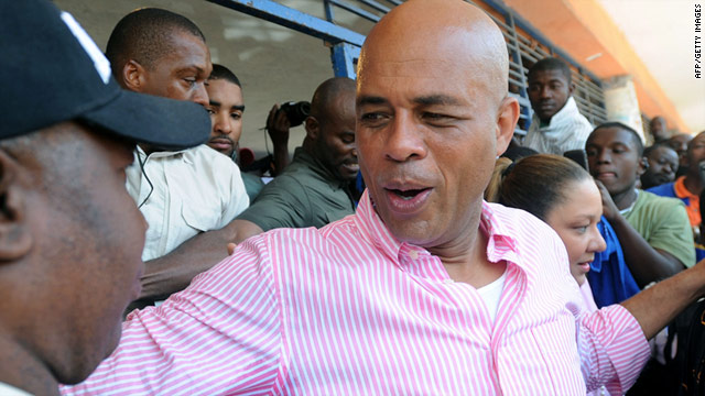 Michel Martelly defeated his challenger, former first lady Mirlande Manigat, in a landslide, winning 67.6% of the vote.
