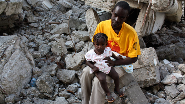 Fritz Robert Pierre-Saint lives near the rubble of the Notre Dame cathedral in Port-au-Prince, Haiti.