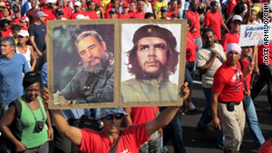 Thousands commemorate the 50th anniversary of Cuba's victory over the U.S.-backed invasion at the Bay of Pigs.