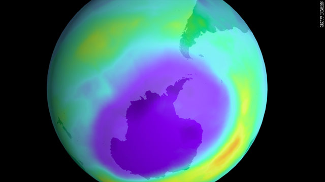 NASA satellites recorded an 11.5 million square-mile hole in the ozone over Antarctica in 2000