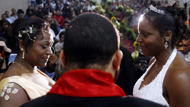 The Brazil ruling does not allow same-sex marriage, as in this collective marriage ceremony in Sao Paulo in 2009.