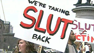Demonstrators marched through Toronto earlier this year as part of the SlutWalk campaign against sexual violence.