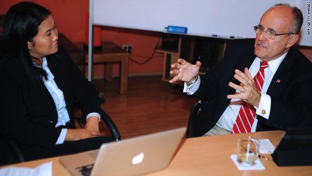Rudolph Giuliani asesorará a Keiko Fujimori en seguridad