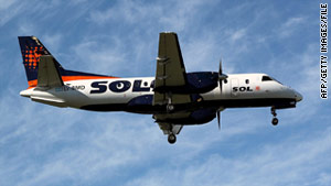 This Sol Airlines Saab 340 plane is similar to the one that crashed Wednesday night in southern Argentina.