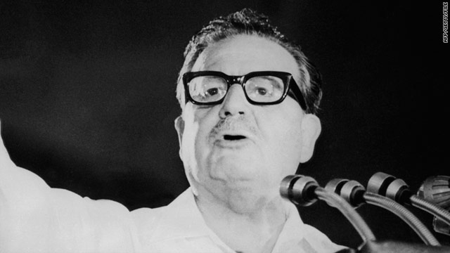 An undated photo of former Chilean President Salvador Allende, who died during a 1973 military coup.