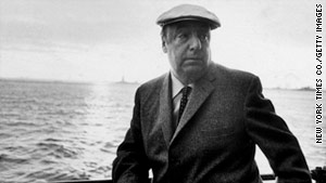 Nobel Prize-winning poet Pablo Neruda died 12 days after a right-wing military coup overthrew Chile's government.