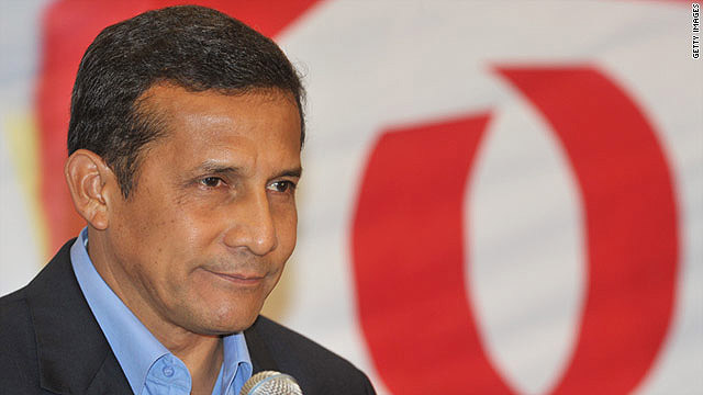 Ollanta Humala, a former army officer, has swapped his trademark red T-shirts for suits for this election.