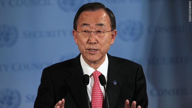 United Nations Secretary-General Ban Ki-moon hopes to serve another five years, he announced Monday.