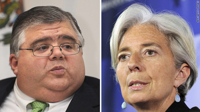 The International Monetary Fund is now considering just two contenders, French Finance Minister Christine Lagarde and Mexican Central Bank chief Agustin Carstens.