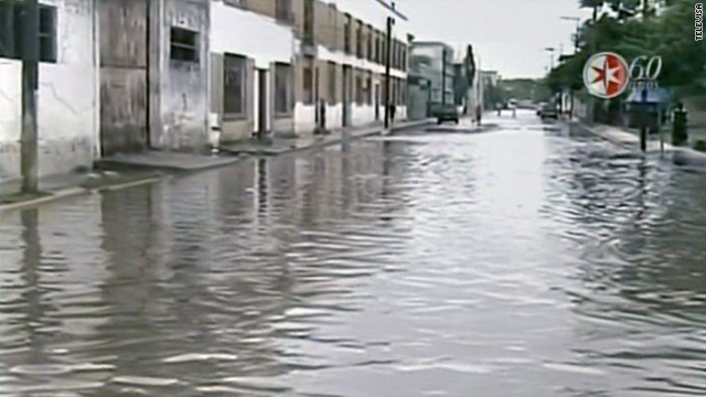 Tropical Storm Arlene, the season's first named storm, caused heavy rainfall and flooding in Veracruz, Mexico.