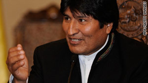 "Bolivian President Evo Morales ""recognized he made a mistake,"" according to a statement."