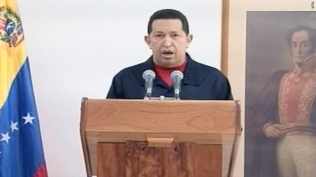 Doctors in Cuba removed a cancerous tumor from Venezuelan President Hugo Chavez's body, the president said Thursday.