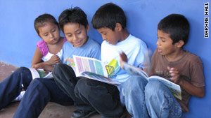 Students in Nicaragua enjoy books donated to them by TALICA.