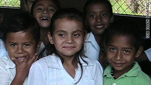 Children in Madronal, Nicaragua, are among those Sue Ellen Wortzel and TALICA have helped.