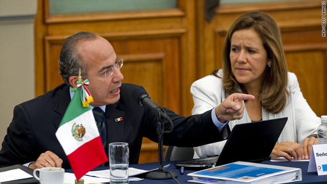 Mexican President Felipe Calderon, shown on June 23, gave Congress 180 days to approve a new human trafficking law.