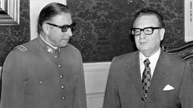 Chilean President Salvador Allende, right, with General Augusto Pinochet, who led a coup against Allende.