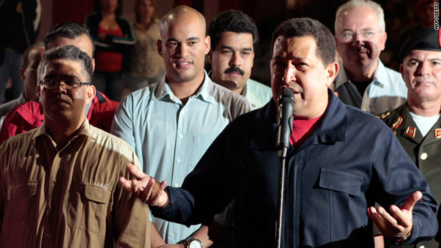 Venezuelan President Hugo Chavez arrives back at Caracas from Cuba on July 23, 2011 after chemotherapy treatment.