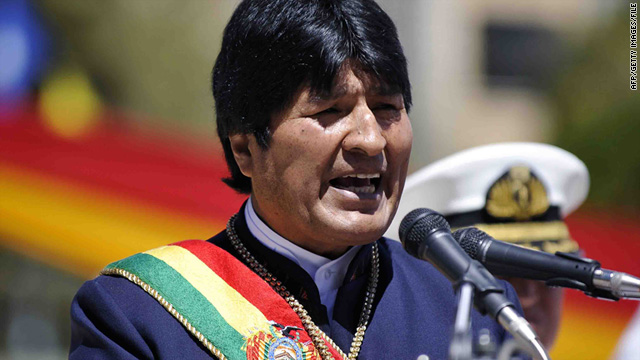 Bolivian President Evo Morales says he's worried the U.S. will plant something on his plane to link him with drug trafficking.