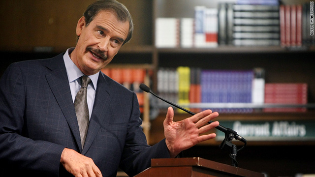 Former Mexican President Vicente Fox believes legalizing marijuana would help end drug violence in Mexico.