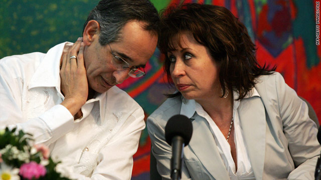 Sandra Torres in 2007 with her then-husband, President Alvaro Colom.